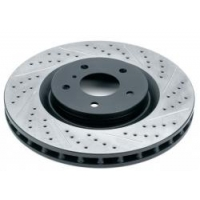 Комплект задних тормозных дисков для Toyota Celica T23# 00-05 Rotora  с насечками и перфорацией