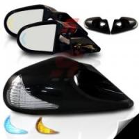 JDM Black LED боковые электро зеркала с указателем поворота на корпусе и элементе для Toyota Celica T23# 00-05