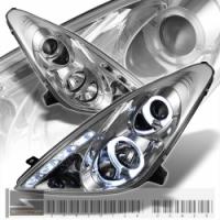 Фары для Toyota Celica T23# 00-05 DLR «ангельские глазки» Crome