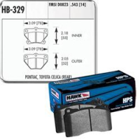 Тормозные колодки задние для Toyota Celica T23# 00-05 HAWK HPS