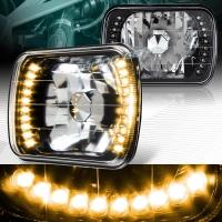 Фары черные с LED указателем поворота для Toyota Celica T18# 89-93, MR2 86-95