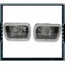Фары линзованные черные с HALO Rings для Toyota Celica T18# 89-93, MR2 86-95