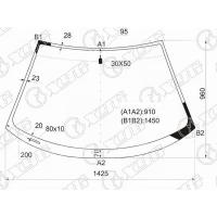 Стекло лобовое для Toyota Celica T23# 00-05
