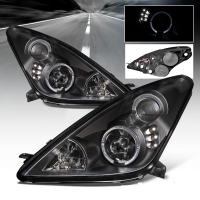 Фары для Toyota Celica T23# 00-05 Halo DLR BLACK STYLE