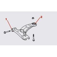 К-т сайлентблоков рычагов пер. подвески для Toyota Celica T23# 00-05 PU